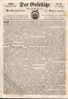 Der Gesellige : Graudenzer Wochenblatt und Anzeiger 1860.03.29 nr 38