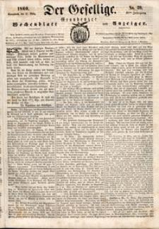 Der Gesellige : Graudenzer Wochenblatt und Anzeiger 1860.03.31 nr 39