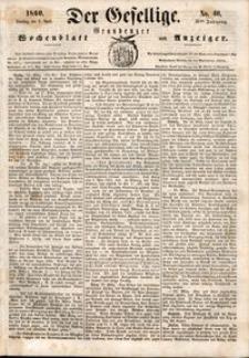 Der Gesellige : Graudenzer Wochenblatt und Anzeiger 1860.04.03 nr 40