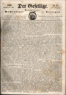 Der Gesellige : Graudenzer Wochenblatt und Anzeiger 1860.04.05 nr 41