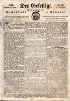 Der Gesellige : Graudenzer Wochenblatt und Anzeiger 1860.04.07 nr 42