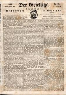 Der Gesellige : Graudenzer Wochenblatt und Anzeiger 1860.04.12 nr 43