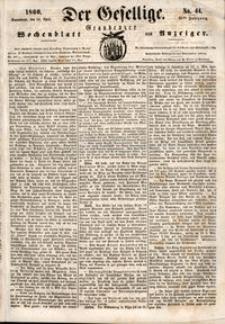 Der Gesellige : Graudenzer Wochenblatt und Anzeiger 1860.04.14 nr 44