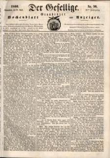 Der Gesellige : Graudenzer Wochenblatt und Anzeiger 1860.04.28 nr 50
