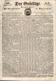 Der Gesellige : Graudenzer Wochenblatt und Anzeiger 1860.05.01 nr 51