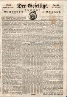 Der Gesellige : Graudenzer Wochenblatt und Anzeiger 1860.05.05 nr 53