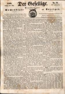 Der Gesellige : Graudenzer Wochenblatt und Anzeiger 1860.05.08 nr 54