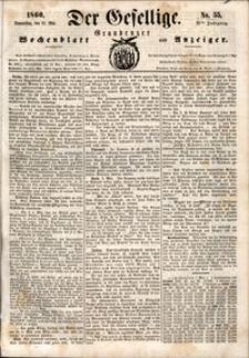Der Gesellige : Graudenzer Wochenblatt und Anzeiger 1860.05.10 nr 55