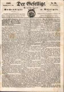 Der Gesellige : Graudenzer Wochenblatt und Anzeiger 1860.05.12 nr 56
