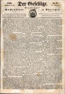 Der Gesellige : Graudenzer Wochenblatt und Anzeiger 1860.05.16 nr 57 + dodatek
