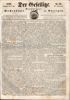 Der Gesellige : Graudenzer Wochenblatt und Anzeiger 1860.05.19 nr 58