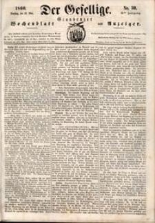 Der Gesellige : Graudenzer Wochenblatt und Anzeiger 1860.05.22 nr 59