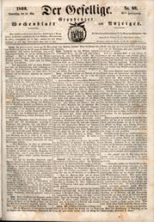 Der Gesellige : Graudenzer Wochenblatt und Anzeiger 1860.05.24 nr 60
