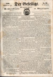 Der Gesellige : Graudenzer Wochenblatt und Anzeiger 1860.06.02 nr 63