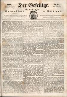 Der Gesellige : Graudenzer Wochenblatt und Anzeiger 1860.06.05 nr 64