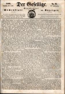 Der Gesellige : Graudenzer Wochenblatt und Anzeiger 1860.06.07 nr 65