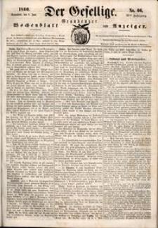 Der Gesellige : Graudenzer Wochenblatt und Anzeiger 1860.06.09 nr 66