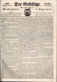 Der Gesellige : Graudenzer Wochenblatt und Anzeiger 1860.06.12 nr 67