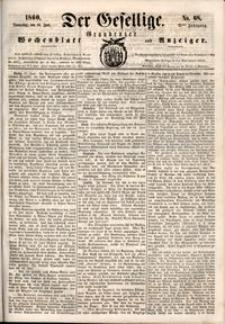 Der Gesellige : Graudenzer Wochenblatt und Anzeiger 1860.06.14 nr 68