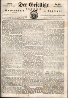 Der Gesellige : Graudenzer Wochenblatt und Anzeiger 1860.06.16 nr 69