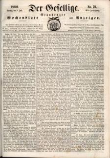 Der Gesellige : Graudenzer Wochenblatt und Anzeiger 1860.07.03 nr 76