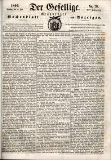 Der Gesellige : Graudenzer Wochenblatt und Anzeiger 1860.07.10 nr 79