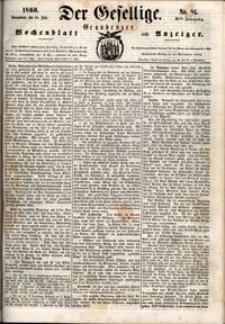 Der Gesellige : Graudenzer Wochenblatt und Anzeiger 1860.07.14 nr 81