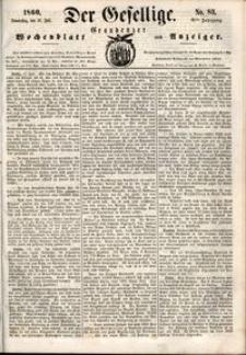 Der Gesellige : Graudenzer Wochenblatt und Anzeiger 1860.07.19 nr 83