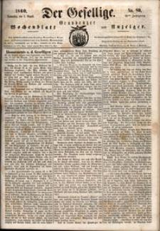 Der Gesellige : Graudenzer Wochenblatt und Anzeiger 1860.08.02 nr 89