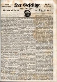 Der Gesellige : Graudenzer Wochenblatt und Anzeiger 1860.08.07 nr 91