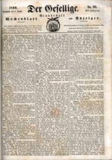 Der Gesellige : Graudenzer Wochenblatt und Anzeiger 1860.08.11 nr 93