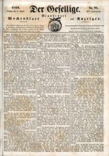 Der Gesellige : Graudenzer Wochenblatt und Anzeiger 1860.08.14 nr 94