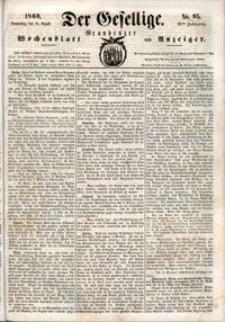 Der Gesellige : Graudenzer Wochenblatt und Anzeiger 1860.08.16 nr 95