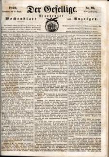 Der Gesellige : Graudenzer Wochenblatt und Anzeiger 1860.08.18 nr 96