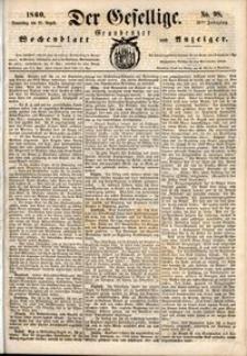 Der Gesellige : Graudenzer Wochenblatt und Anzeiger 1860.08.23 nr 98