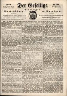 Der Gesellige : Graudenzer Wochenblatt und Anzeiger 1860.08.28 nr 100