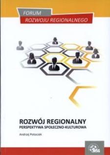 Rozwój regionalny - perspektywa społeczno-kulturowa