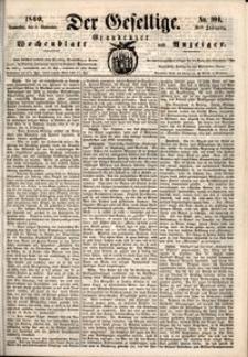 Der Gesellige : Graudenzer Wochenblatt und Anzeiger 1860.09.06 nr 104