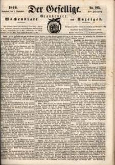 Der Gesellige : Graudenzer Wochenblatt und Anzeiger 1860.09.08 nr 105