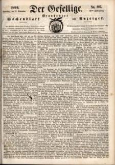 Der Gesellige : Graudenzer Wochenblatt und Anzeiger 1860.09.13 nr 107