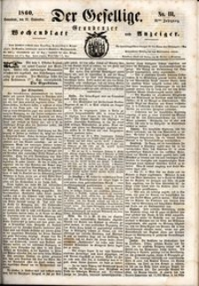 Der Gesellige : Graudenzer Wochenblatt und Anzeiger 1860.09.22 nr 111