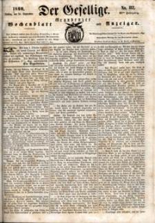Der Gesellige : Graudenzer Wochenblatt und Anzeiger 1860.09.24 nr 112