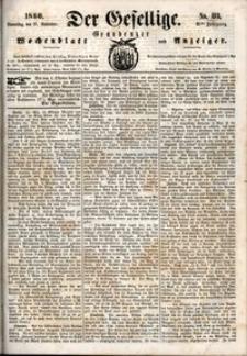 Der Gesellige : Graudenzer Wochenblatt und Anzeiger 1860.09.27 nr 113