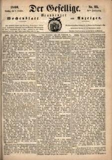 Der Gesellige : Graudenzer Wochenblatt und Anzeiger 1860.10.02 nr 115