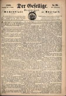 Der Gesellige : Graudenzer Wochenblatt und Anzeiger 1860.10.04 nr 116