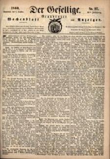 Der Gesellige : Graudenzer Wochenblatt und Anzeiger 1860.10.06 nr 117