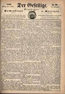 Der Gesellige : Graudenzer Wochenblatt und Anzeiger 1860.10.11 nr 119