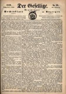 Der Gesellige : Graudenzer Wochenblatt und Anzeiger 1860.10.16 nr 121