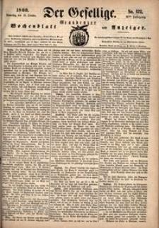 Der Gesellige : Graudenzer Wochenblatt und Anzeiger 1860.10.18 nr 122