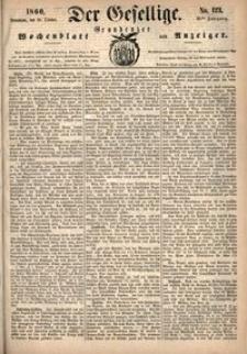 Der Gesellige : Graudenzer Wochenblatt und Anzeiger 1860.10.20 nr 123